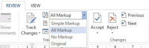 All Markup - Word